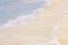 Blue waves. Gentle blue waves and white sand Stock Photo