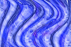 Blue waves, graphic Stock Photo