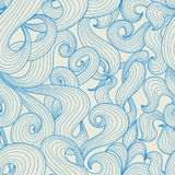 Blue waves pattern Stock Image