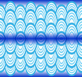 Blue waves pattern Royalty Free Stock Images