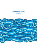 Blue waves pattern Royalty Free Stock Photography