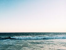 Blue Waves and Sea royalty free stock photo