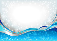 Blue waves snow background. With space for text Stock Photography