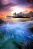 The blue waves Stock Images
