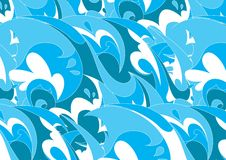 Blue waves. Royalty Free Stock Images