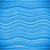 Blue waves vector sea background Stock Photography