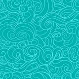 Blue waving curls similar to winter frosty window Stock Photo