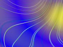 Blue wavy abstract background Stock Photo