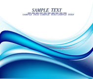 Blue wavy abstract background Royalty Free Stock Image