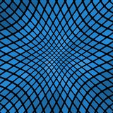 Blue wavy abstract mosaic background Royalty Free Stock Photos