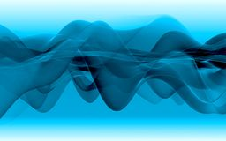Blue wavy background Royalty Free Stock Photography