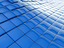 Blue wavy background Stock Images