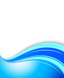 Blue wavy background. This is file of EPS10 format Stock Image