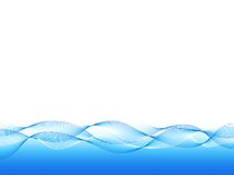 Blue wavy background. Blue wavy lines on white background Royalty Free Stock Photography