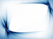 Blue wavy border Royalty Free Stock Photo