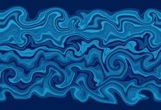 Blue wavy border Stock Images