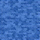 Blue wavy cell background Stock Image