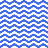 Blue wavy chevron seamless pattern Royalty Free Stock Image