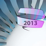 Blue wavy geometry new year wish Royalty Free Stock Photo