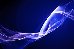 Blue wavy lines background Stock Photo