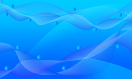 Blue Wavy Mesh Lines Abstract Background Royalty Free Stock Photography