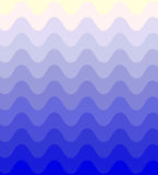 Blue Wavy Pattern Gently Shimmering from dark to light. Geometric Abstract Background. Stock Photography