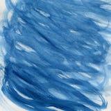 Blue wavy random watercolor background Stock Photos