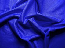 Blue wavy textile Royalty Free Stock Images
