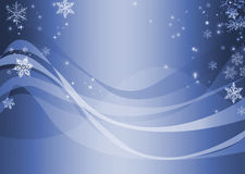 Blue wavy winter abstract Royalty Free Stock Photos
