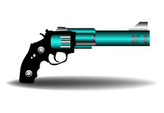 Blue weapon Royalty Free Stock Images
