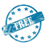 Blue Weathered Free Stamp Circle and Stars Royalty Free Stock Image