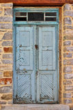Blue weathered front door Royalty Free Stock Image