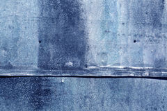 Blue weathered metal sheet texture. Abstract background and texture for design Royalty Free Stock Image
