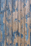 Blue weathered wooden wall Royalty Free Stock Photo