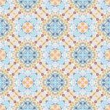 Blue Weave Pattern Emblem Design Stock Photography