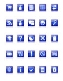 Blue Web and Blog Icons. A set of 25 blue web and blog related icons Royalty Free Stock Photos