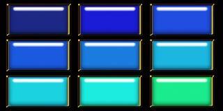 Blue web button Stock Photos