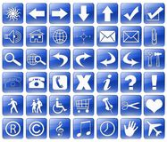 blue web buttons Royalty Free Stock Photography