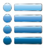 Blue web buttons long royalty free stock image