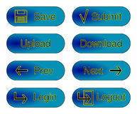 Blue web buttons Royalty Free Stock Image