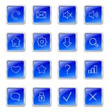 Blue web buttons Stock Photography