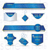 Blue web design banner sale for website Stock Photos