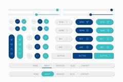 Blue web elements navigation set royalty free illustration
