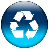 Blue Web Icon Royalty Free Stock Photography