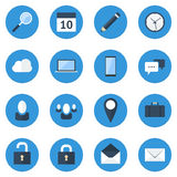 Blue Web Icon Set Royalty Free Stock Photography