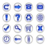 Blue Web Icons Buttons Set Part 1 Royalty Free Stock Images