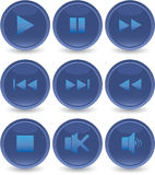 Blue web icons set Stock Photo