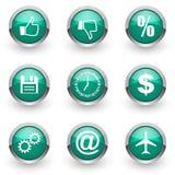 Blue web icons set Royalty Free Stock Photos