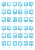 Blue web icons. For your web site Royalty Free Stock Photo