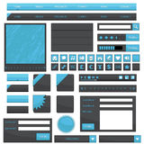 Blue web objects Royalty Free Stock Image